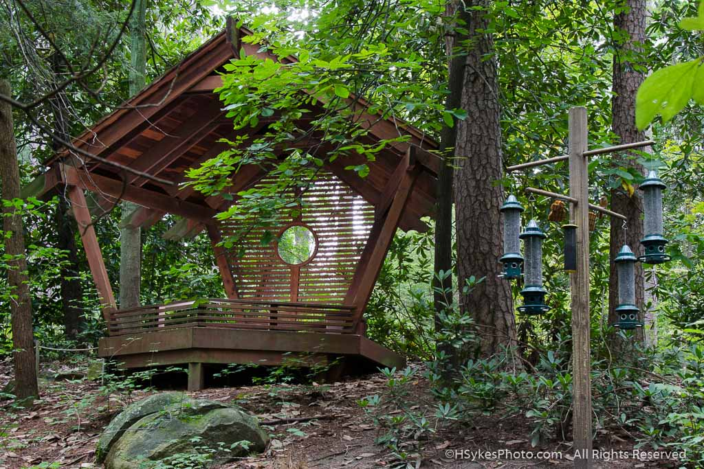 Blomquist Bird Watching Shelter as photographed by Howard Sykes of HSykes Photo