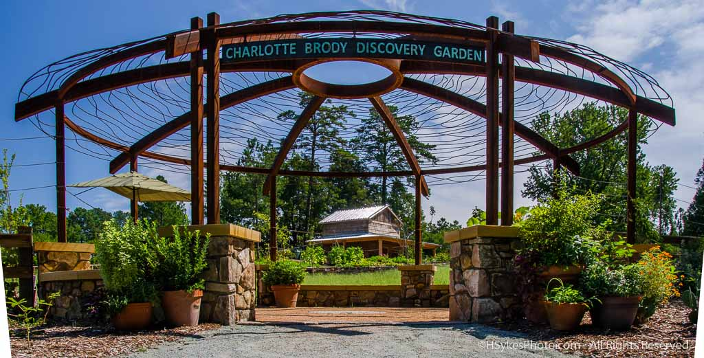 Discovery Garden Entrance photographed by Howard Sykes