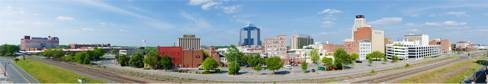 Durham, NC cityscape photograph by Howard Sykes of HSykesPhoto