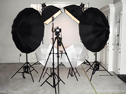 Picture of professional photographic lighting equipment